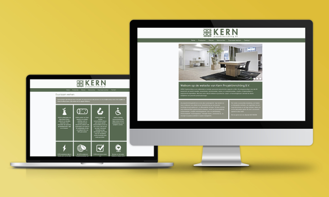 Kern Projektinrichting Website